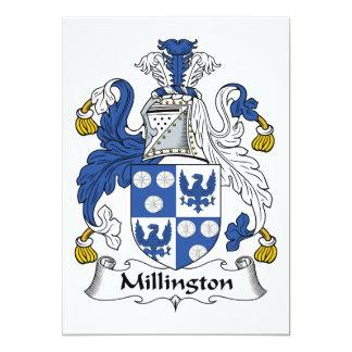 Millington Family Crest 5x7 Paper Invitation Card