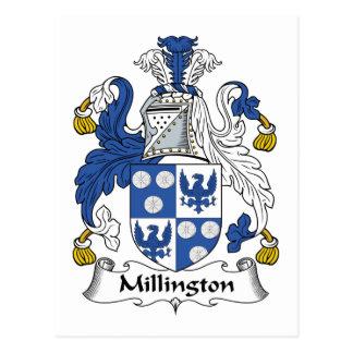 Millington Family Crest Postcard
