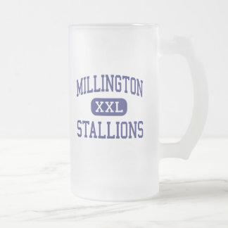 Millington Stallions Middle Millington Frosted Glass Beer Mug
