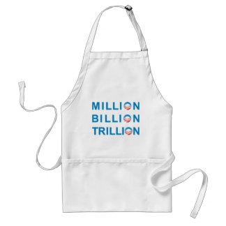 MILLION BILLION TRILLION ADULT APRON