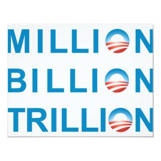 MILLION BILLION TRILLION CARD