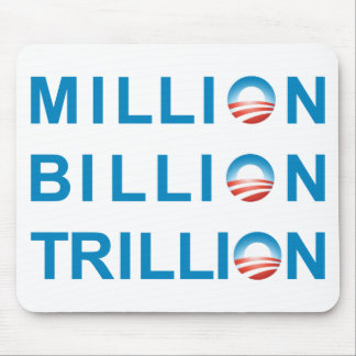 MILLION BILLION TRILLION MOUSE PAD
