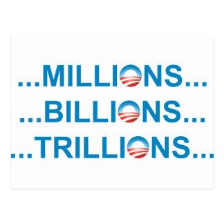MILLION BILLION TRILLION POSTCARD