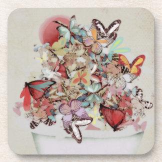 Million Butterflies Cork Coaster