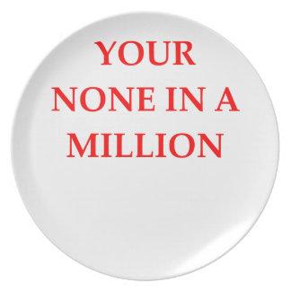 MILLION DINNER PLATE