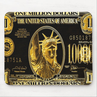 Million Dollar American money collection Mouse Pad