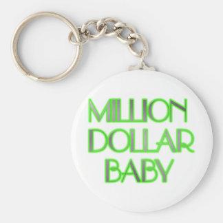 MILLION DOLLAR BABY BASIC ROUND BUTTON KEYCHAIN
