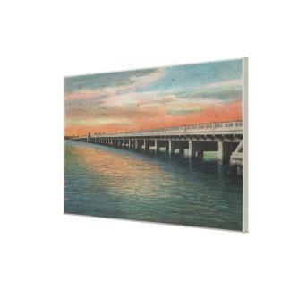 Million Dollar Bridge over Manatee River, Canvas Print