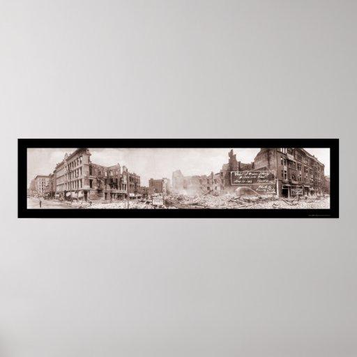 Million Dollar Fire Houston Photo 1912 Poster