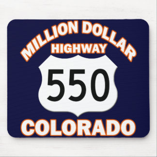 MILLION DOLLAR HIGHWAY COLORADO 550 MOUSE PAD