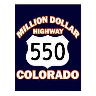 MILLION DOLLAR HIGHWAY COLORADO 550 POSTCARDS