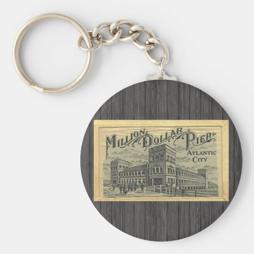 Million Dollar Pier Atlantic City, Vintage Key Chain