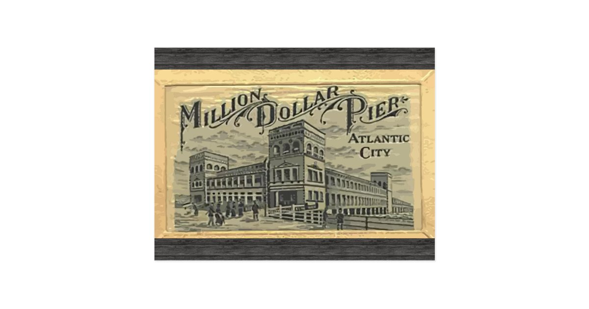 Million Dollar Pier Atlantic City Vintage Postcard Zazzle Com