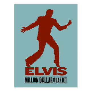 Million Dollar Quartet Elvis Postcard