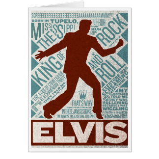 Million Dollar Quartet Elvis Type Card