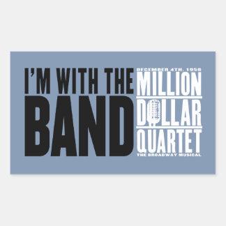 Million Dollar Quartet I m With the Band Rectangular Sticker
