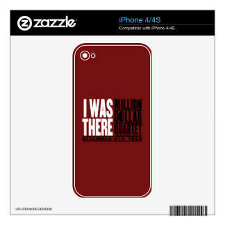 "Million Dollar Quartet ""I Was There"" iPhone 4S Skin"