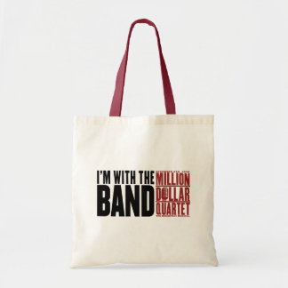 """Million Dollar Quartet """"I'm With the Band"""" Tote Bags"""