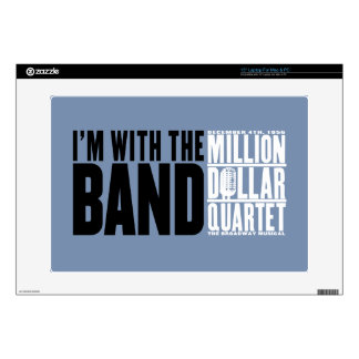 """Million Dollar Quartet """"I'm With the Band"""" Laptop Decals"""