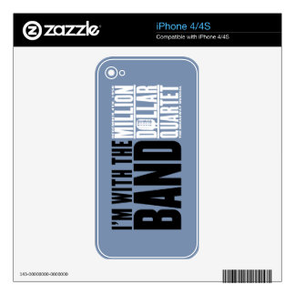 """Million Dollar Quartet """"I'm With the Band"""" Skins For The iPhone 4S"""