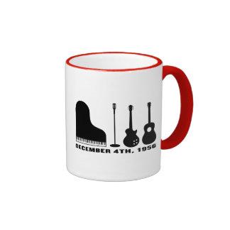 Million Dollar Quartet Instruments - Black Ringer Coffee Mug