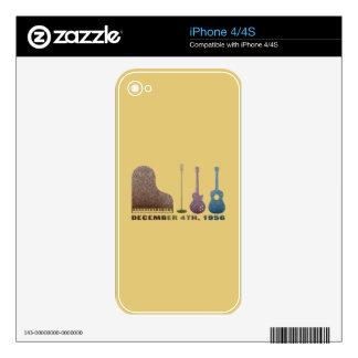 Million Dollar Quartet Instruments - Color iPhone 4 Decals