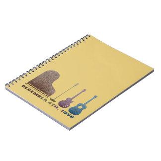 Million Dollar Quartet Instruments - Color Spiral Notebook