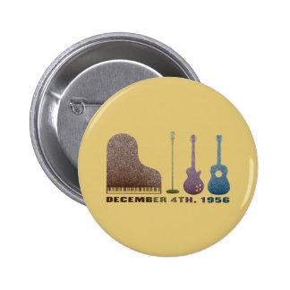 Million Dollar Quartet Instruments - Color Pinback Button