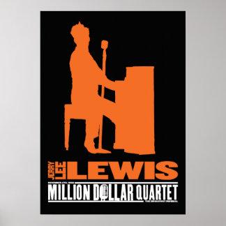 Million Dollar Quartet Lewis Poster