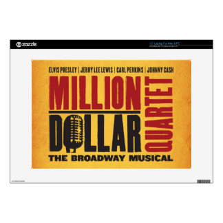 "Million Dollar Quartet Logo 15"" Laptop Decals"