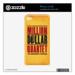 Million Dollar Quartet Logo iPhone 4 Skin