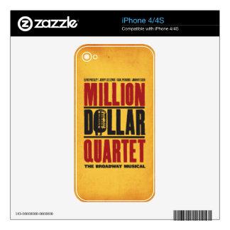 Million Dollar Quartet Logo iPhone 4 Skin