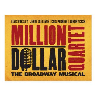 Million Dollar Quartet Logo Postcard