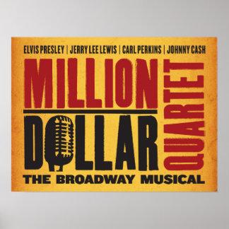 Million Dollar Quartet Logo Poster