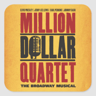 Million Dollar Quartet Logo Square Sticker