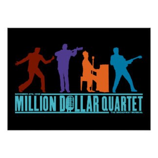 Million Dollar Quartet On Stage Poster