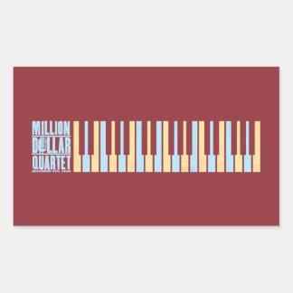 Million Dollar Quartet Piano Rectangular Stickers