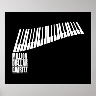 Million Dollar Quartet Piano - White Poster