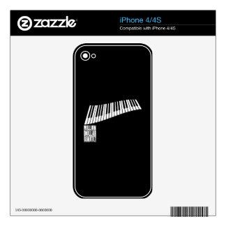 Million Dollar Quartet Piano - White Skins For The iPhone 4