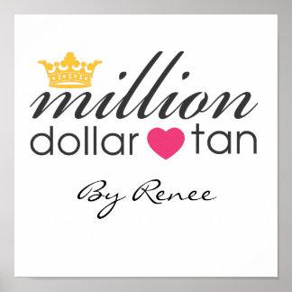 Million Dollar Tan Canvas Sign Poster