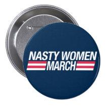 Million Women March button badge