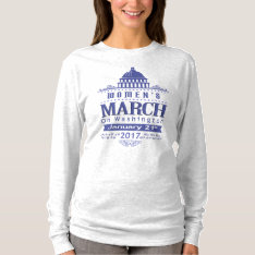 Million Women's March On Washington 2017 Blue Grey T-shirt at Zazzle