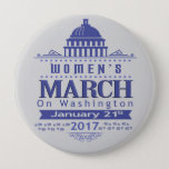 "Million Womens March on Washington 2017 Button Pin<br><div class=""desc"">Million Women&#39;s March on Washington DC 2017 Blue Grey and White Political Statement HUGH Button Pin. Lets not be discouraged to march the day after the President Donald Trump Inauguration Day in Washington DC on January 21, 2017 and wear our women&#39;s voice against bigotry, hate, racism and the like. Makes...</div>"