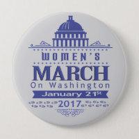 Million Womens March on Washington 2017 Button Pin