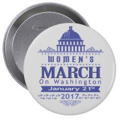 Million Womens March on Washington 2017 Button Pin at Zazzle