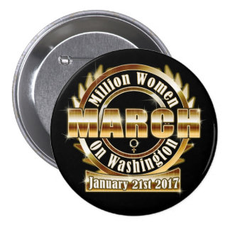 Million Womens March on Washington 2017 Lg. Button