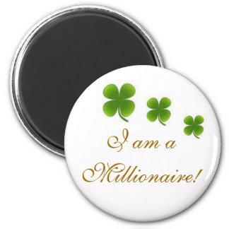 Millionaire 2 Inch Round Magnet
