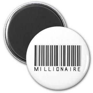 Millionaire Bar Code 2 Inch Round Magnet