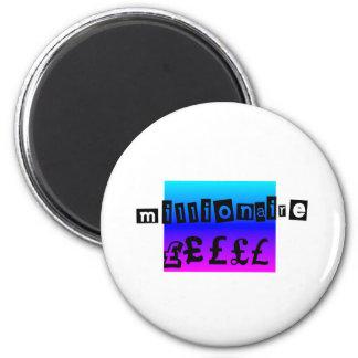 Millionaire Blues 2 Inch Round Magnet
