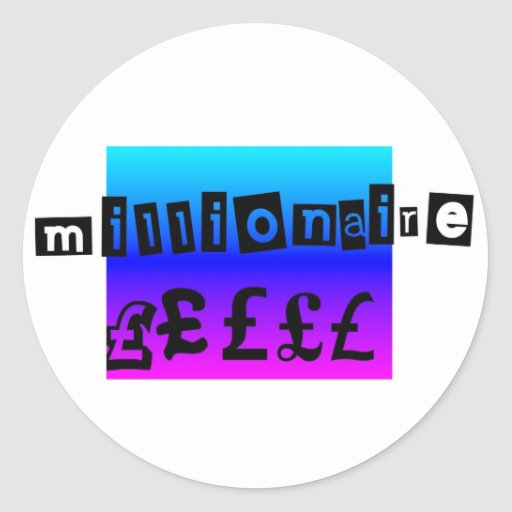 Millionaire Blues Round Sticker